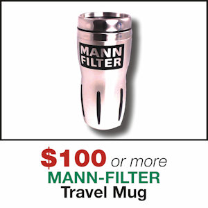 Free Travel Mug with MANN-FILTER Orders of $100 or More