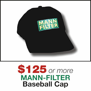 Free MANN-FILTER Cap with MANN-FILTER orders of $125 or more